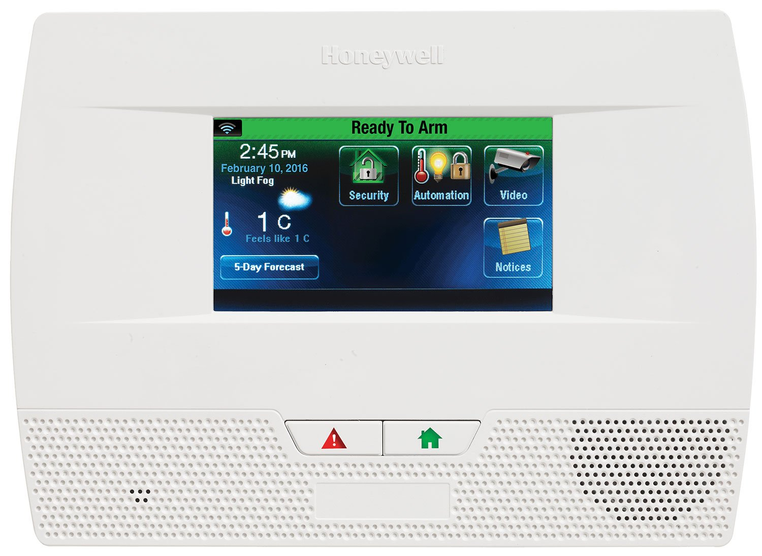 Honeywell touch keypad for home safety monitoring